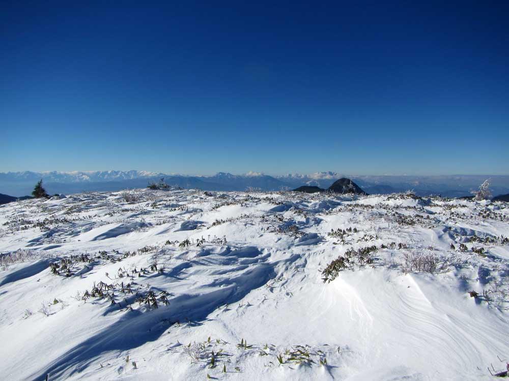 坊主山からの北アルプスの山並み