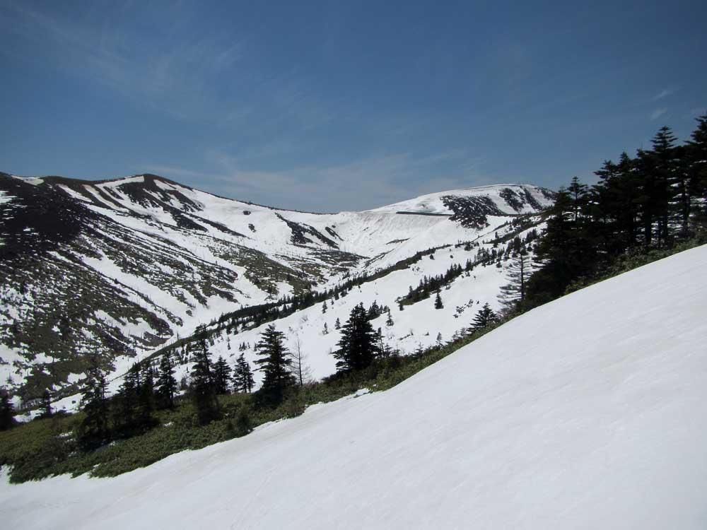 最高地点展望台から山田峠方面