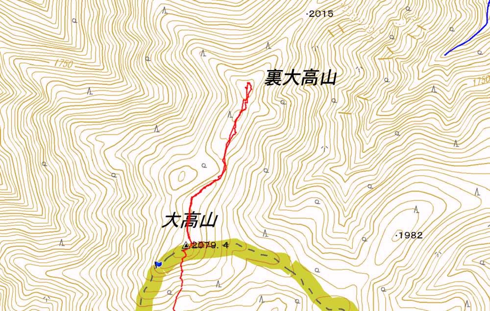 裏大高山(2090m)