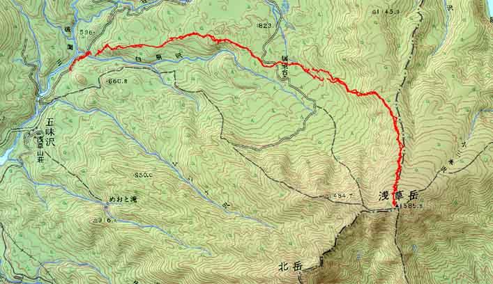 浅草岳雪崩回避のシークレットコース