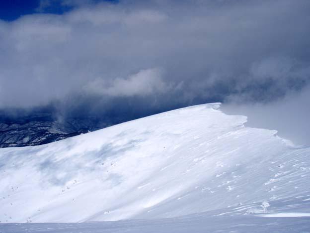 山頂でガスが綺麗にとれて・・・