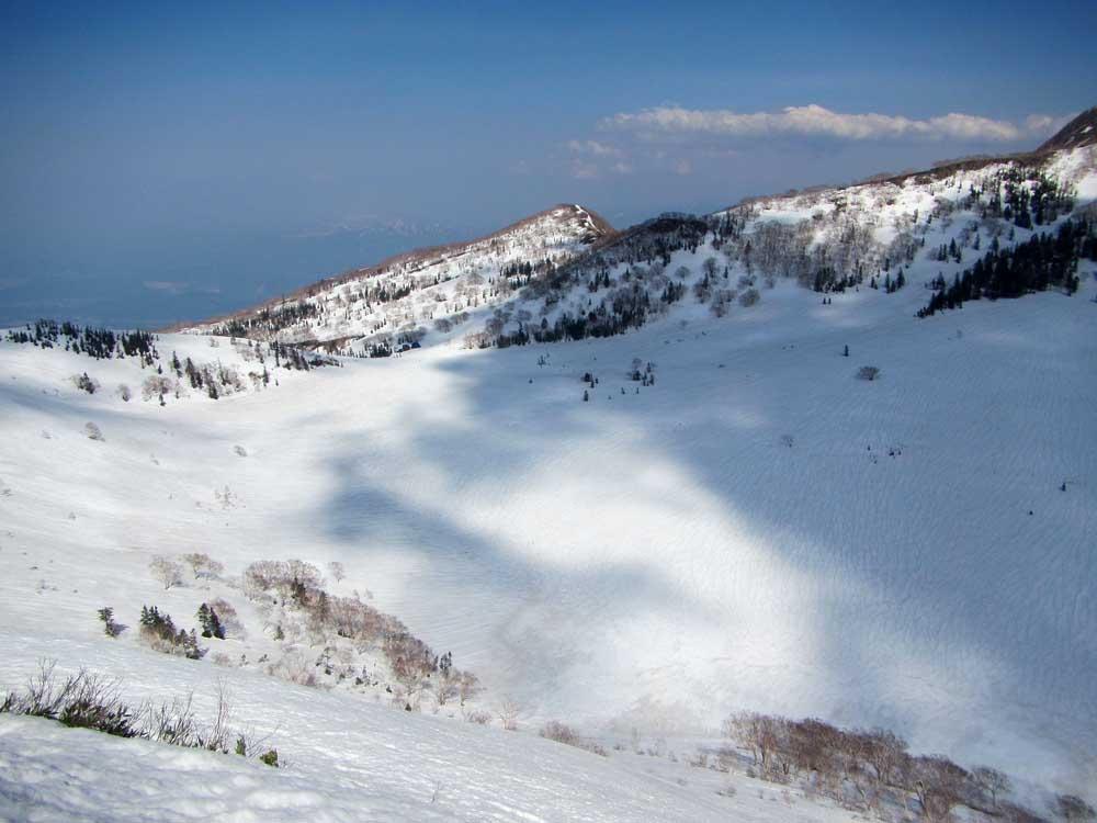 黒沢岳から黒沢ヒュッテ方面