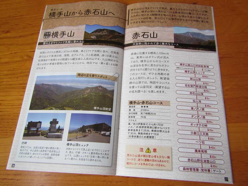 志賀高原の山々からの縦走コース