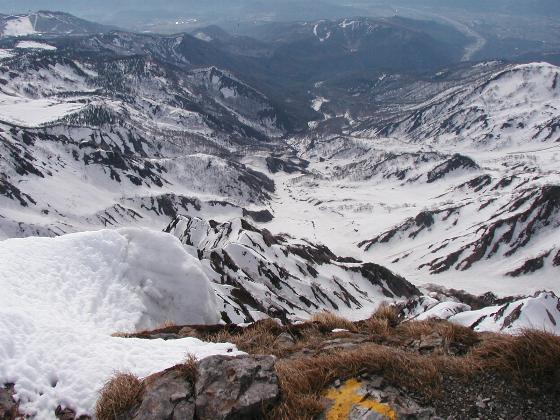 白馬主稜と大雪渓を足下に!