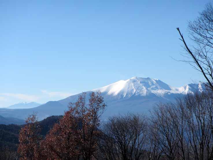 浅間山と八ヶ岳