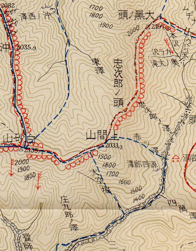 昭和初期の白砂川地図その2
