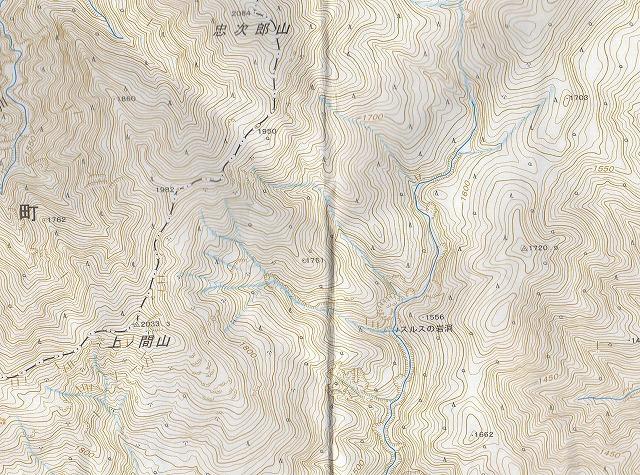 野反湖うらやまガイド現在の地形図