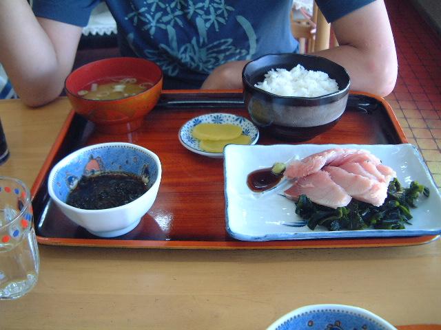 龍飛岬ミッキー食堂のブリ定食