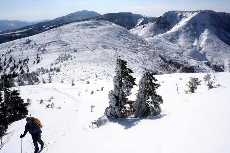 小串鉱山跡から御飯岳への登り