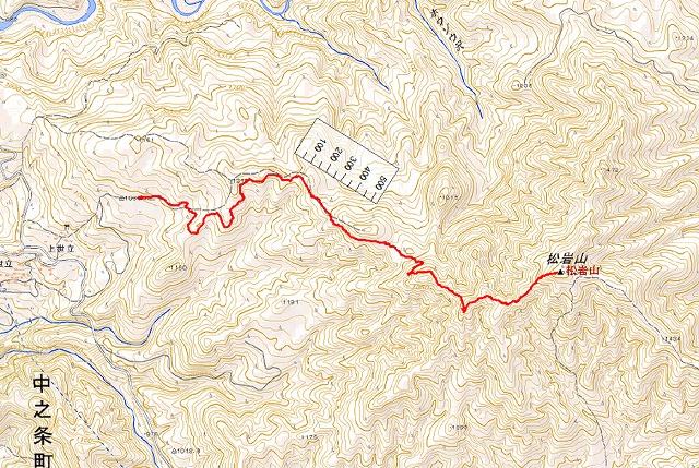 野反湖うらやまガイド松岩山MAP